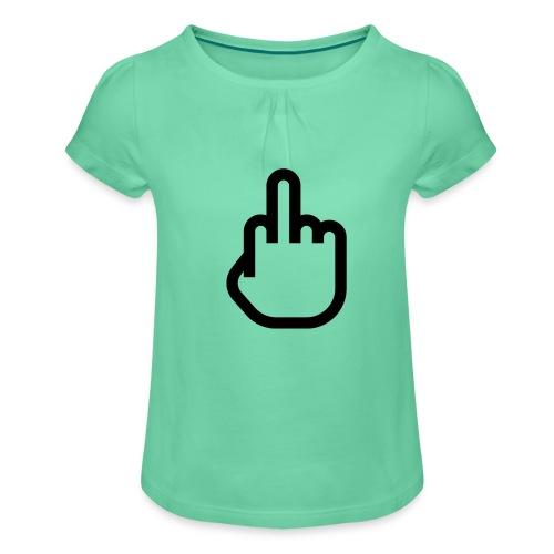 F - OFF - Meisjes-T-shirt met plooien