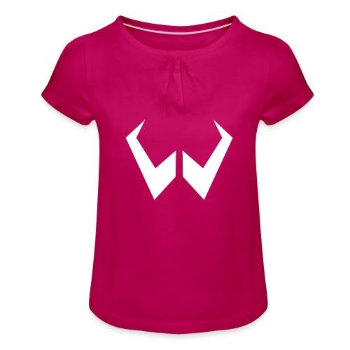 logo de without gravity pk - Camiseta para niña con drapeado