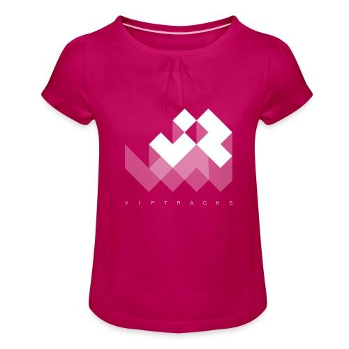 LOGO VIPTRACKS RELEASES - Meisjes-T-shirt met plooien