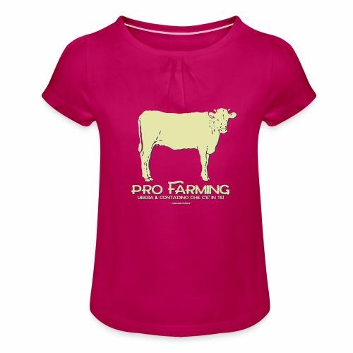 PRO Farming - Maglietta da ragazza con arricciatura