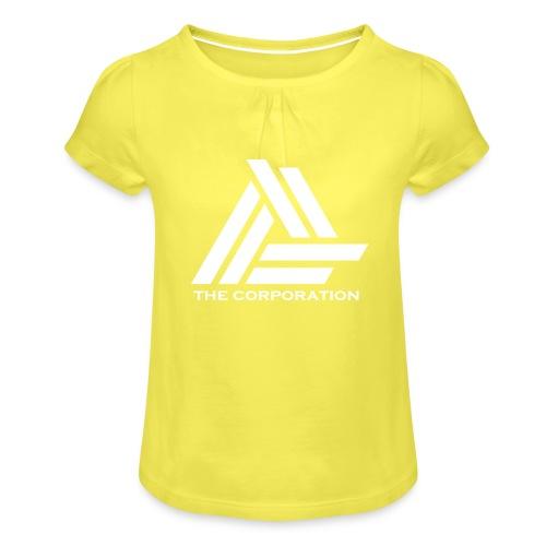 wit metnaam keertwee png - Girl's T-Shirt with Ruffles