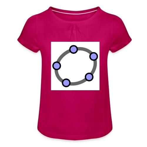 GeoGebra Ellipse - Girl's T-Shirt with Ruffles