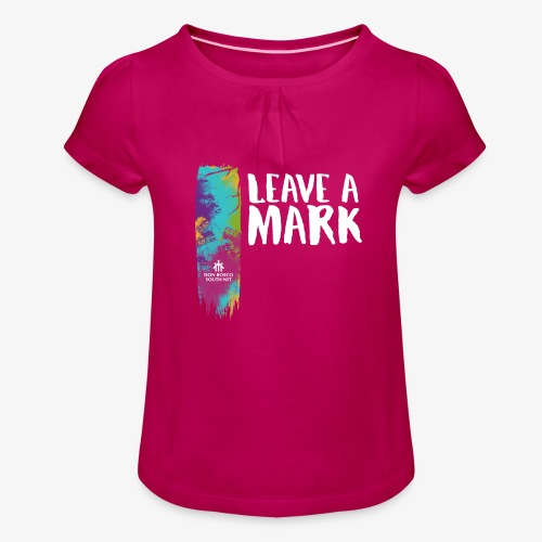 Leave a mark - Girl's T-Shirt with Ruffles