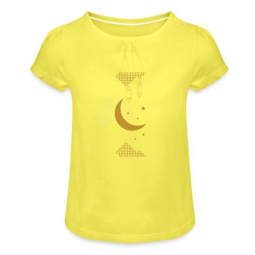Ramadan Kareem Muslim holy month ilustration - Girl's T-Shirt with Ruffles
