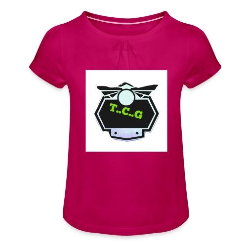 Cool gamer logo - Girl's T-Shirt with Ruffles