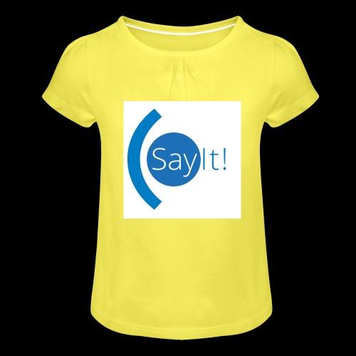 Sayit! - Girl's T-Shirt with Ruffles