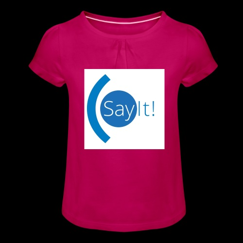 Sayit! - Girl's T-Shirt with Ruffles