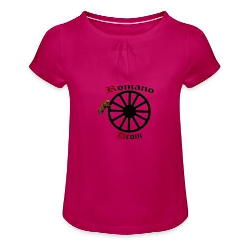 626878 2406580 lennyromanodromutanbakgrundsvartbjo - T-shirt med rynkning flicka