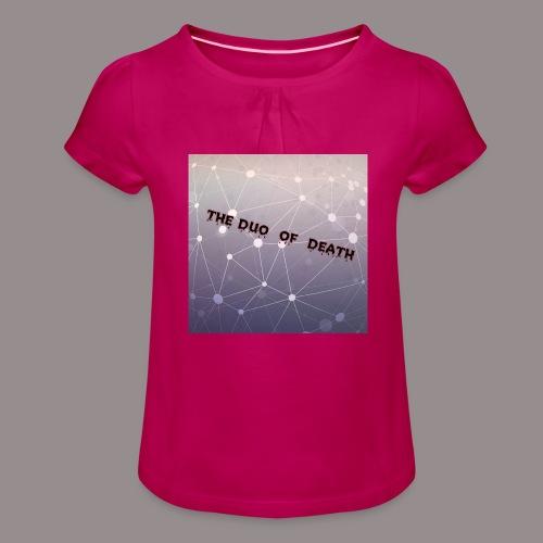 The duo of death logo - Meisjes-T-shirt met plooien