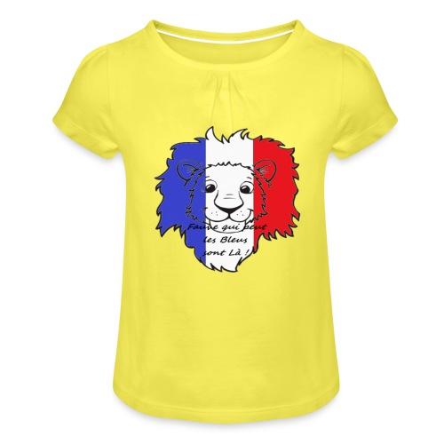 Lion supporter France - T-shirt à fronces au col Fille