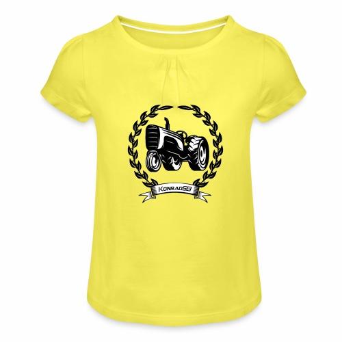 KonradSB - Koszulka dziewczęca z marszczeniami