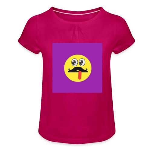 Funky logo - Girl's T-Shirt with Ruffles