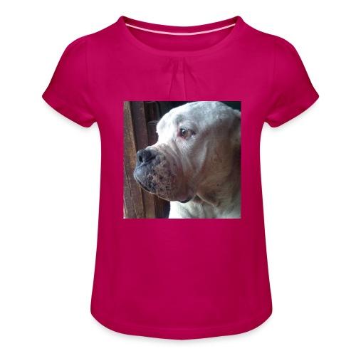 Mirada Perritus - Camiseta para niña con drapeado