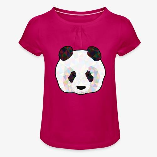 Panda - T-shirt à fronces au col Fille