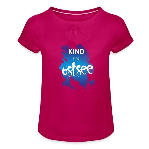 Kind der Ostsee - Mädchen-T-Shirt mit Raffungen