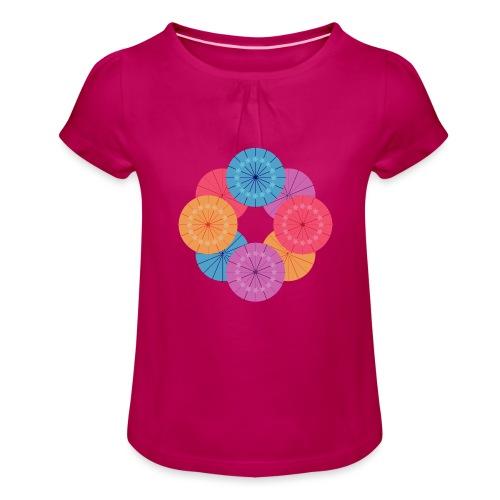 CR - Neon Kasa - Camiseta para niña con drapeado