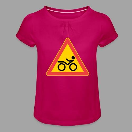 Traffic sign Recumbent - Tyttöjen t-paita, jossa rypytyksiä