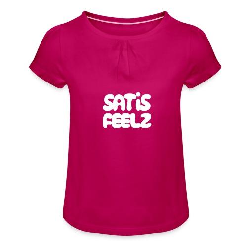 Satisfeelz - T-shirt med rynkning flicka