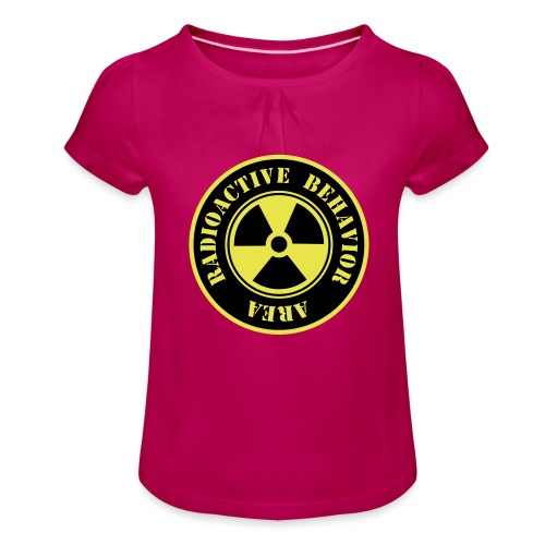 Radioactive Behavior - Camiseta para niña con drapeado