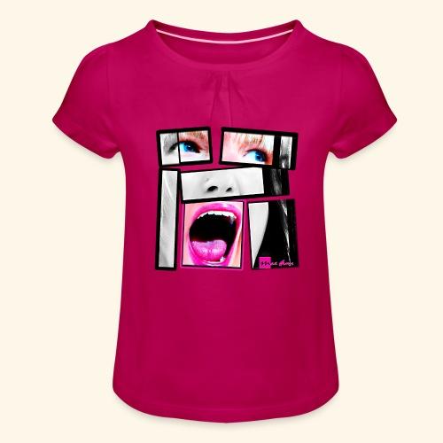 expo26b2 Unbreakable - T-shirt à fronces au col Fille
