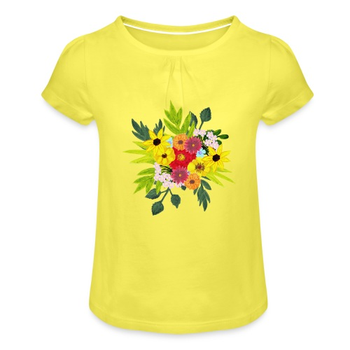 Flower_arragenment - Girl's T-Shirt with Ruffles