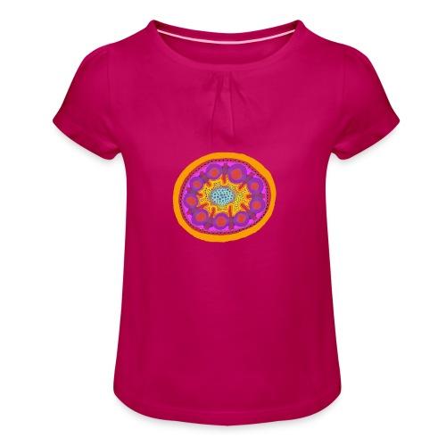 Mandala Pizza - Girl's T-Shirt with Ruffles