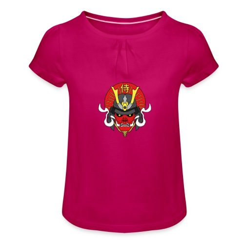 Samouraï Casque Démon - T-shirt à fronces au col Fille