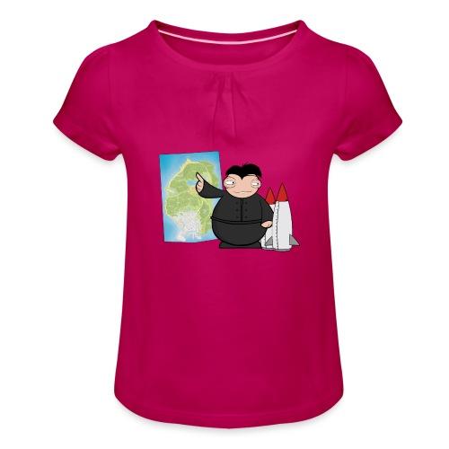 Happy Dictator. - Camiseta para niña con drapeado