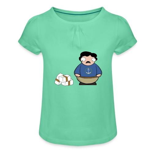 Pablito. - Camiseta para niña con drapeado