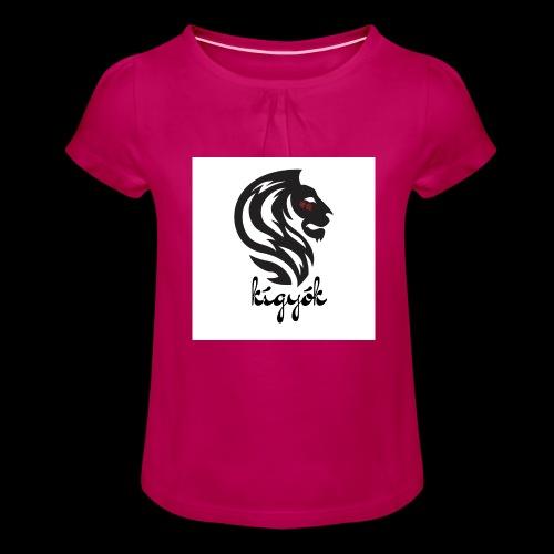 Kigyók❤️❤️❤️ - Mädchen-T-Shirt mit Raffungen