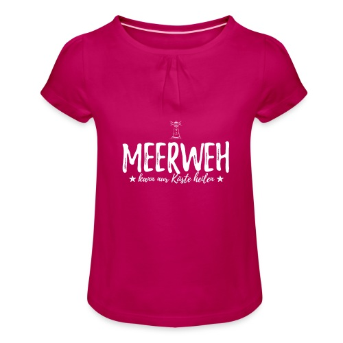 Meerweh - Mädchen-T-Shirt mit Raffungen