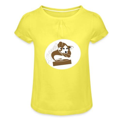 Droove logo - Meisjes-T-shirt met plooien