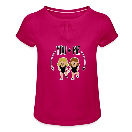 You and me - Camiseta para niña con drapeado