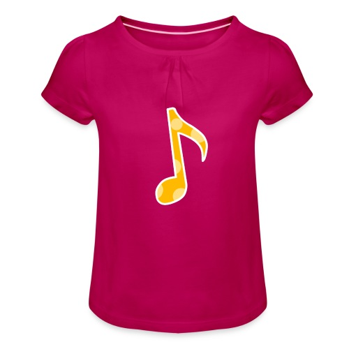 Basic logo - Girl's T-Shirt with Ruffles
