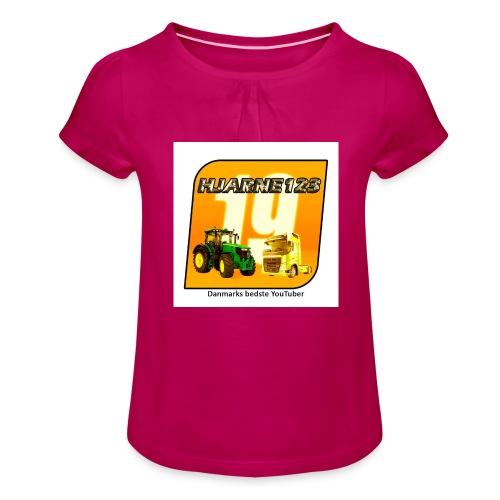 hjarne 123 danmarks bedeste youtuber - Pige T-shirt med flæser