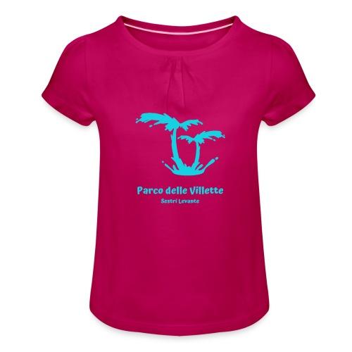 LOGO PARCO DELLE VILLETTE - Maglietta da ragazza con arricciatura