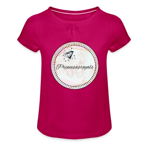 Princesasroyals - Mädchen-T-Shirt mit Raffungen