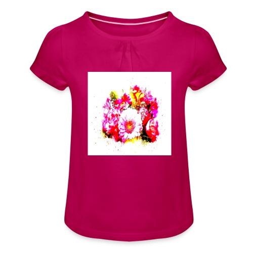 Shoppiful - Maglietta da ragazza con arricciatura