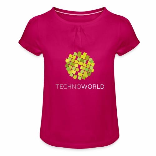 Techno World - Mädchen-T-Shirt mit Raffungen
