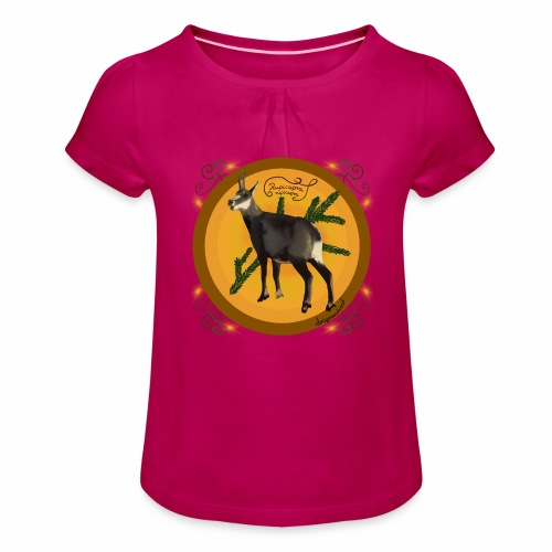 Die Gemse - Mädchen-T-Shirt mit Raffungen
