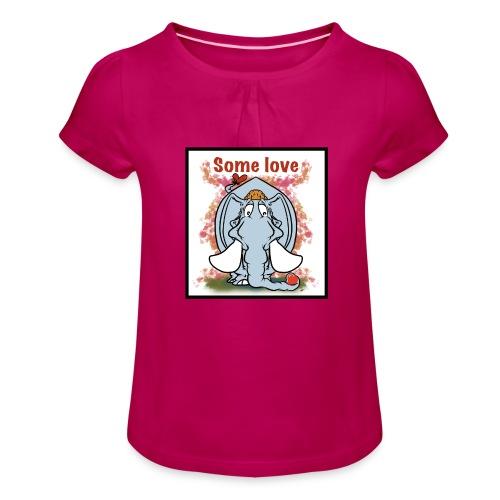 Some Love - T-shirt med rynkning flicka