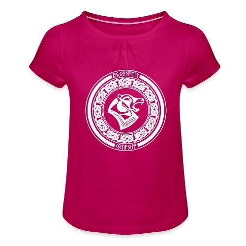 BjörnfellRisingWhite - Tyttöjen t-paita, jossa rypytyksiä