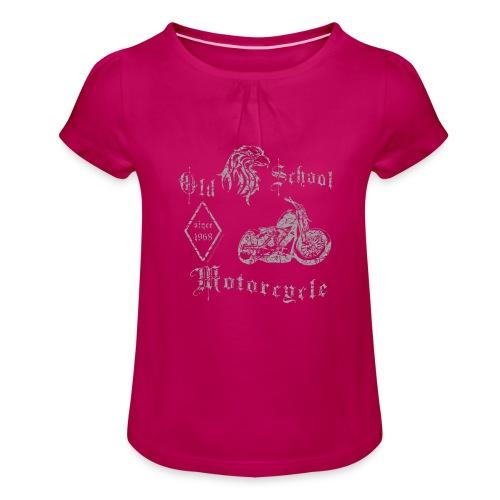 Old School MC 1968 - Mädchen-T-Shirt mit Raffungen