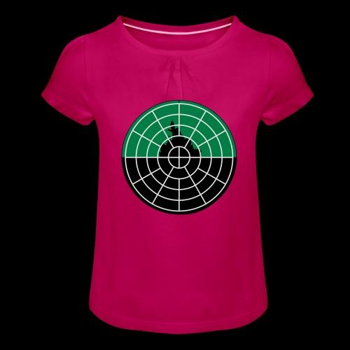 U-Boot Periskop - Mädchen-T-Shirt mit Raffungen