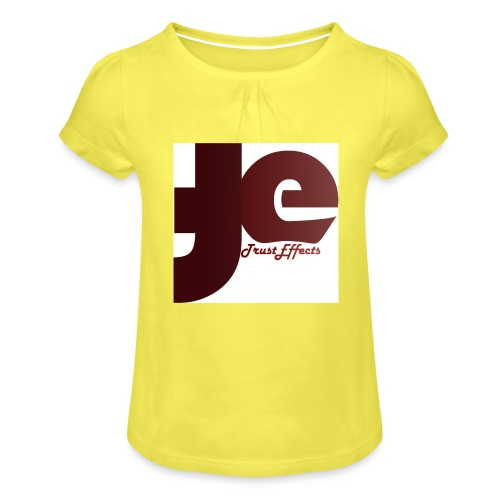 company logo - Girl's T-Shirt with Ruffles