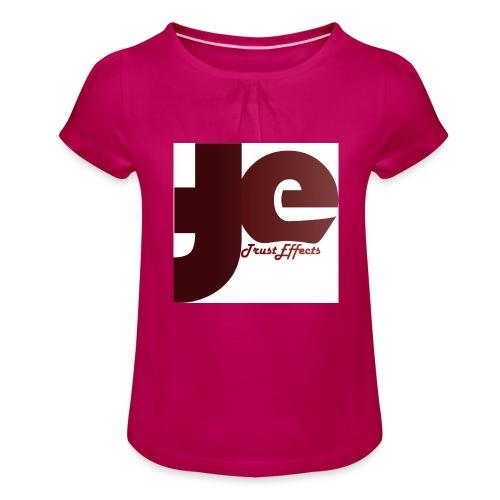 company logo - Girl's T-Shirt with Ruffles