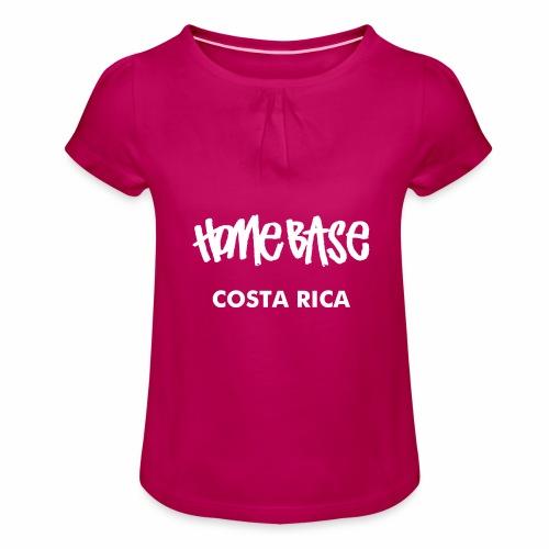 WORLDCUP Costa Rica - Mädchen-T-Shirt mit Raffungen