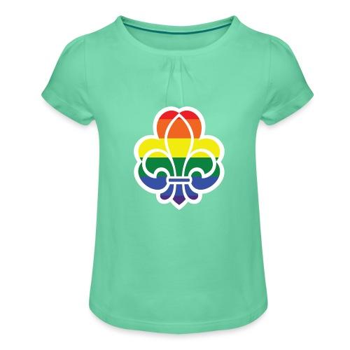 Regnbuespejder jakker og t-shirts mv - Pige T-shirt med flæser