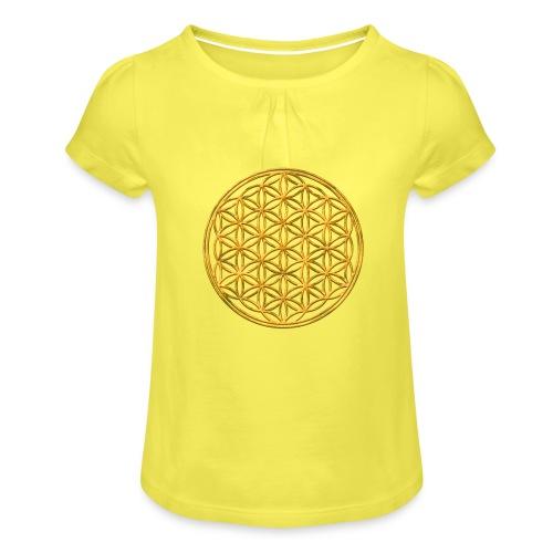 Flower of life GOLD 2 - Meisjes-T-shirt met plooien