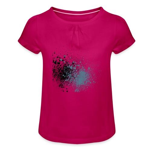 färger - T-shirt med rynkning flicka